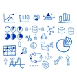 Business finance doodle hand drawn sketched vector image