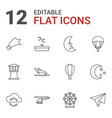 12 sky icons vector image vector image