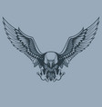 attacking eagle tattoo style vector image vector image