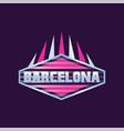 barcelona city logo design in hexagon shape vector image