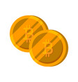 bitcoin gold coin set finance money vector image