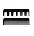 black hair brush vector image vector image