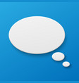 blank paper speech bubble on background vector image vector image