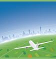 bologna skyline flight destination vector image vector image