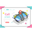 call a taxi flat isometric concept vector image