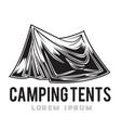camping vintage tent adventure outdoor logo 9 vector image