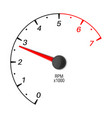 car tachometer scale vector image vector image