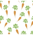 Carrot hand drawn seamless pattern vector image vector image