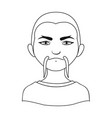 chinesehuman race single icon in outline style vector image vector image