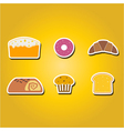 color icons with baking vector image vector image