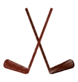 colored two hockey game stick vector image vector image