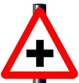 Cross Roads Traffic Sign vector image vector image