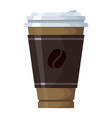 cup coffee icon morning beverage and cafe vector image vector image