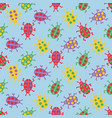 cute colorful bugs vector image vector image
