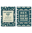 Dad birthday card with words of love vector image