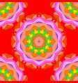 design element colored pattern on a red vector image