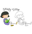 doodle girl character study vector image