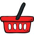 doodle shop basket vector image vector image