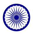 emblem of india depicted on the flag vector image