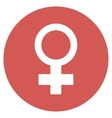 Female Symbol Flat Round Icon vector image