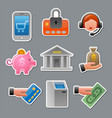 finance stickers vector image vector image