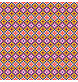 folk geometric seamless pattern pixel art and vector image vector image