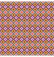 folk geometric seamless pattern pixel art vector image vector image