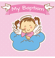girl baptism vector image vector image
