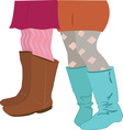 Girls Boots vector image vector image