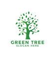 green tree logo icon design template vector image vector image