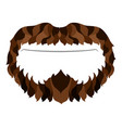 hipster beard icon vector image