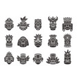 Idol mask black silhouette ritual totem tribal