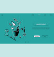 investment - line design style isometric web vector image vector image