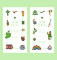 irish party celebration card templates st vector image vector image