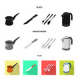isolated object of kitchen and cook logo vector image vector image