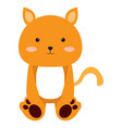 isolated stuffed cat toy vector image vector image