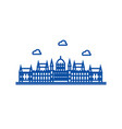 london parliament line icon concept london vector image vector image