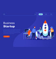 modern flat design concept startup your project vector image vector image