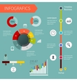 Modern infographics set Timeline Infographic vector image vector image