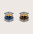 mountain adventure emblem logo template vector image