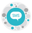 of gadget symbol on sms icon vector image
