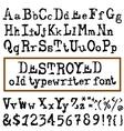 old typewriter font Vintage font Old vector image