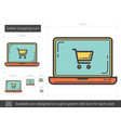 online shopping line icon vector image vector image