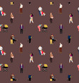 people flat seamless pattern vector image vector image