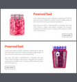 preserved food posters plums vector image vector image