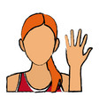 pretty woman sport character casual vector image