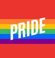 pride lgbt flag poster banner vector image vector image