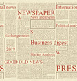 seamless pattern on the theme of newspapers vector image