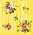 seamless striped style floral pattern vector image vector image