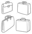 set briefcase vector image vector image
